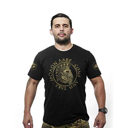 Camiseta estampada Molon Labe Gold line - Team six