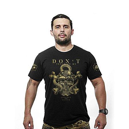 Camiseta estampada Don't Tread On Me Gold line - Team six