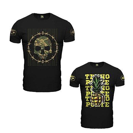 Kit 02 camisetas estampadas explosion - Team six