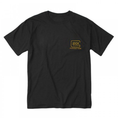 Camiseta estampada Glock perfection Gold edition (Dourada)