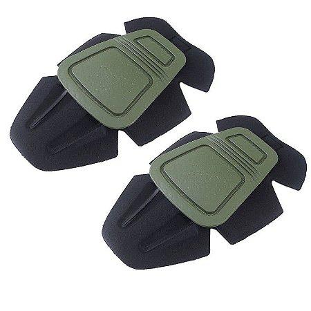 Joelheira tática para calças - Verde Oliva