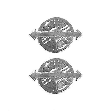 Distintivo motorista em metal cromado - Padrão RUE (PAR)