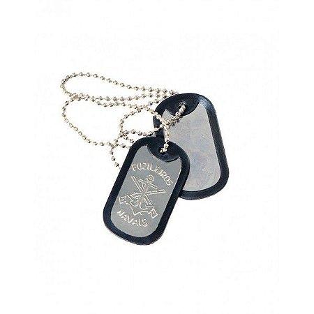 Plaqueta de identificação militar Dog tag - Fuzileiros navais