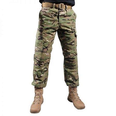 Calça tática camuflada Combat Bélica - Multicam