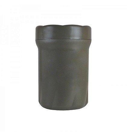 Pote plástico Médio com vedação - Verde Oliva