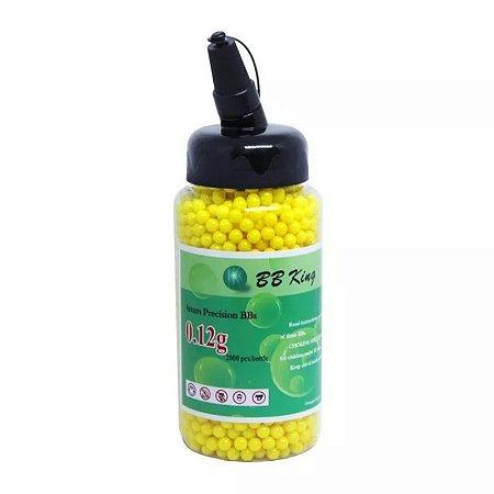 Esferas plásticas BBs BB King 0.12g (Amarelas) - 2000 un