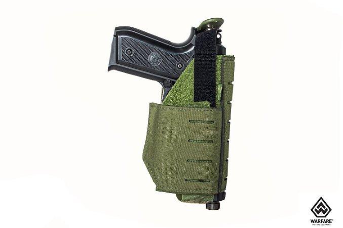 Coldre modular (MOLLE) Police Warfare - Verde oliva