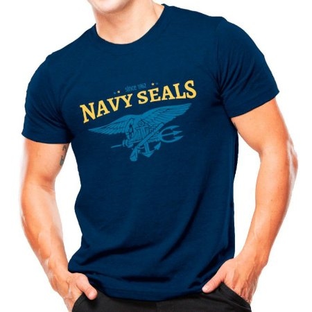 Camiseta T-shirt estampada Navy SEALs - Azul