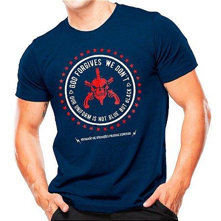 Camiseta T-shirt estampada BOPE - Azul