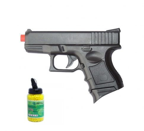 Pistola de airsoft Spring Glock baby P698 - Cal. 6mm + 1000 BBs BB King 0,12g