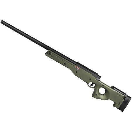 Rifle de airsoft Sniper á mola EVO AWP L96 Verde oliva padrão APS-2 - Cal. 6mm