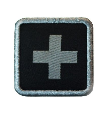 Patch médico bordado Warfare - Preto
