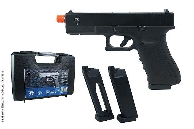 Pistola de airsoft Glock G17 Akira GBB Saigo defense Dual mag + Maleta- Cal. 6mm