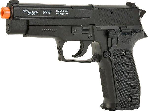 Pistola de airsoft á mola (Spring) Sig Sauer P226 Cybergun Slide em metal - Cal. 6mm