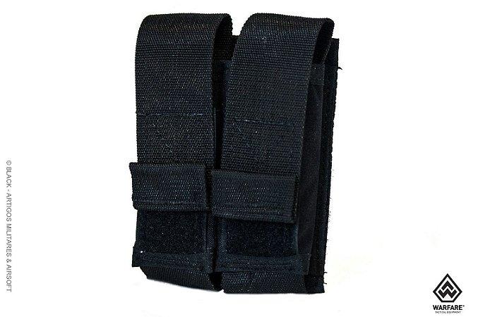 Bolso modular duplo porta magazine de pistolas Warfare - Preto