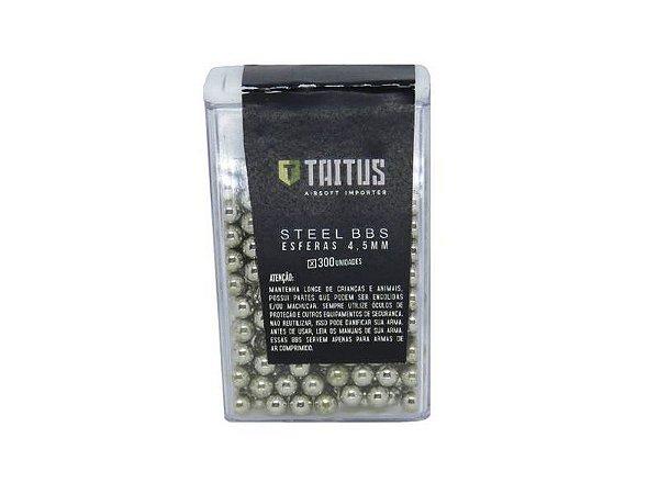 Esferas de aço niquelado 4,5mm Taitus - 300 unidades