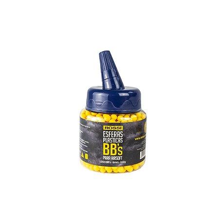 Esferas plásticas BBs Rossi 0.12g (Amarelas) - 1000 un