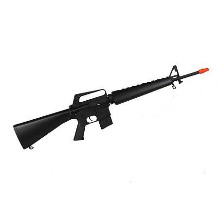 Rifle de airsoft elétrico AEG Jing Gong M16A1 Vietnam (1601MG) - Cal. 6mm