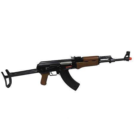 Rifle de airsoft elétrico AEG Jing Gong AK47S (A47-507MG) - Cal. 6mm