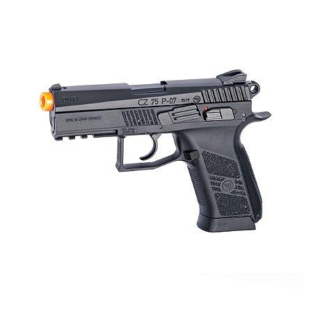 Pistola de airsoft CZ 75 P-07 ASG á gás CO2 Blowback Slide metal - Cal. 6mm