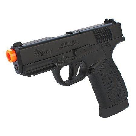 Pistola de pressão Airgun Bersa BP9CC ASG á gás CO2 Blowback Slide metal - Cal. 4.5mm