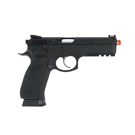 Pistola de pressão Airgun CZ SP-01 SHADOW ASG á gás CO2 GNBB Slide metal - Cal. 4.5mm