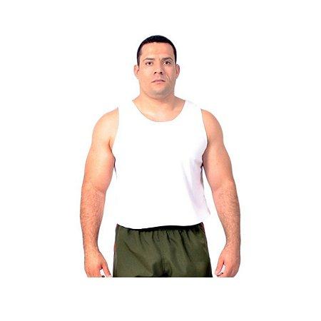 Camiseta regata para TFM em tecido Helanca Light - Branca