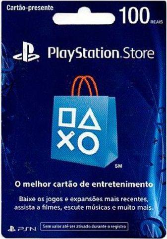 Cartão PSN Brasil R$100 - Digital
