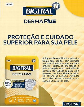 Fralda Bigfral Derma Plus G com 7 unidades