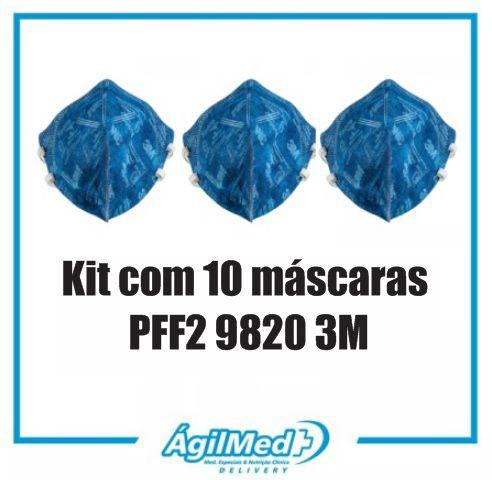 Máscara de Proteção Respiratória PFF2 9820 3M Kit com 10 unidades
