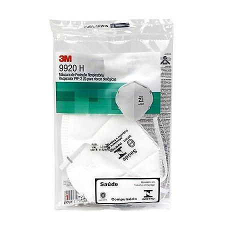 Máscara de Proteção Respiratória PFF2 9920 3M kit com 10 unidades