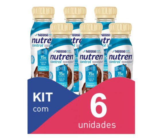 Nutren Control Chocolate 200ml - Kit com 6 unidades