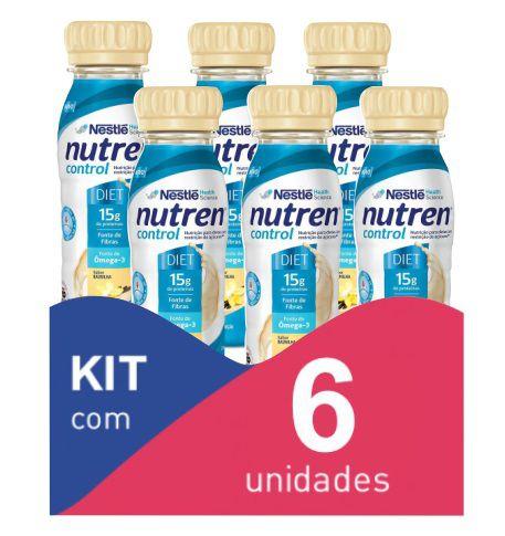 Nutren Control Baunilha 200ml - Kit com 6 unidades