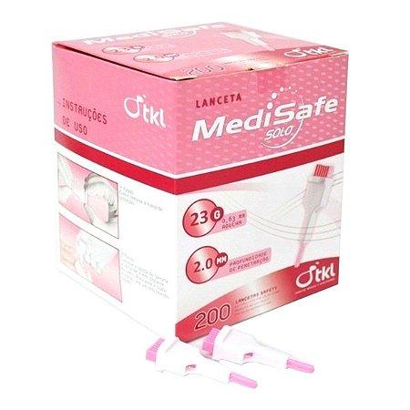 Lanceta Universal 23G/2,0mm Rosa C/200 TKL MEDSAFE