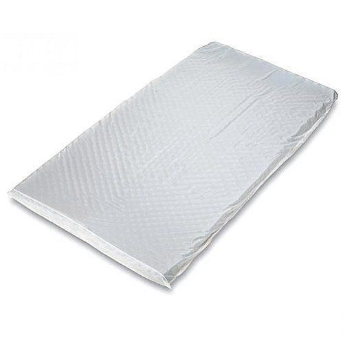 Capa para Colchão Caixa de Ovo Solteiro Branco em PVC Com Ziper - GLC Ortopedia