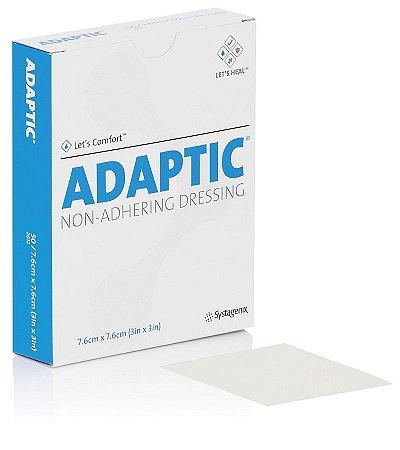 Curativo Adaptic Malha não Aderente - 7,6cmx7,6cm Systagenix