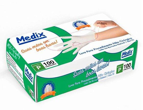 Luvas Proc. P Látex S/ Pó - Medix