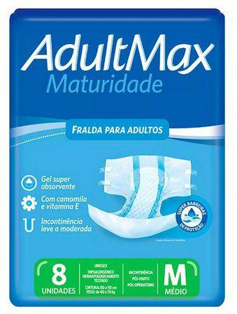 Fralda Descartável Adultmax Maturidade - Tamanho M