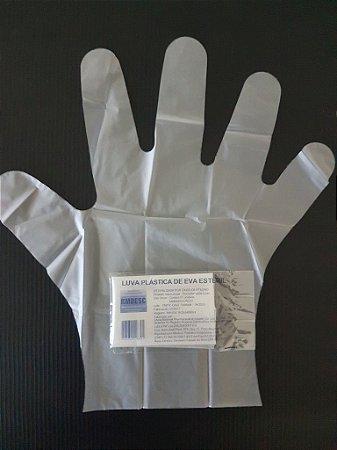 Luvas Plásticas Polietileno Estéril Tam. Único - c/ 100 un