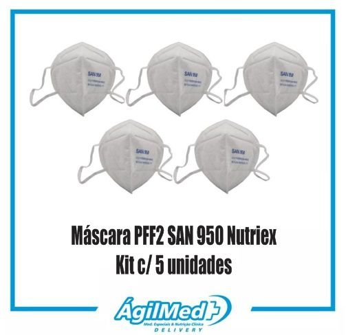 Kit c/ 5 un. Máscara PFF2 SAN 950 - Nutriex