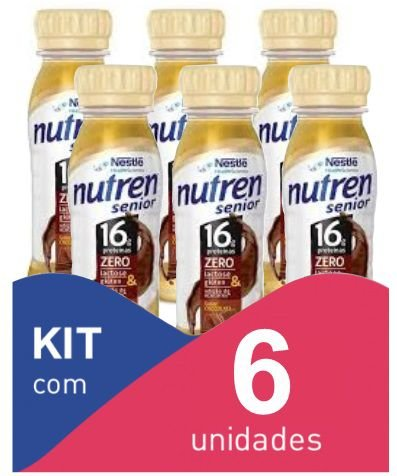 Nutren Senior Chocolate 200ml - Kit com 6 unidadades