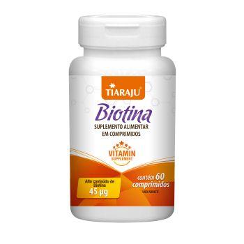 Suplemento alimentar Biotina 45MCG C/60 CP S/GLUTEN - TIARAJU