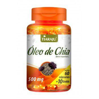 Oleo de Chia 500MG 60+10CPS Softgel (70CPS) S/GLUTEN-TIARAJU