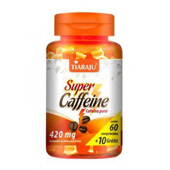 Super Caffeine Cafeina Pura 420MG C/60+10CP (70CP) S/GLUTEN - TIARAJU