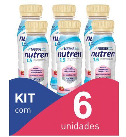 Nutren 1.5 200ml Morango - Kit com 6 unidades