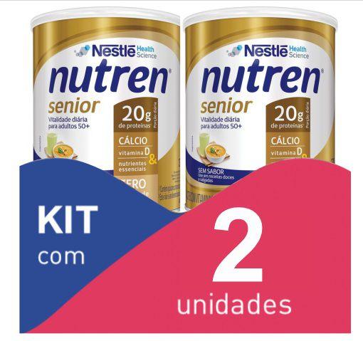 Nutren Senior Pó Sem sabor 740g - Kit com 2 unidades