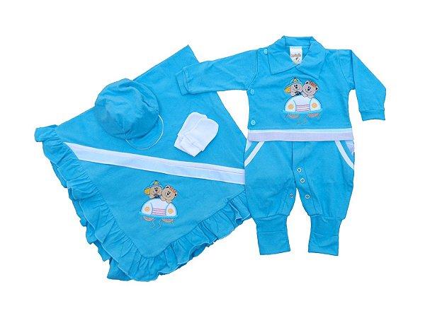 Saída de Maternidade Menino Azul Claro - Mary Baby 895cc5015b5