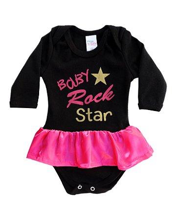 Body Infantil Manga Longa Rock Star - Mary Baby 1c59d3eebdd