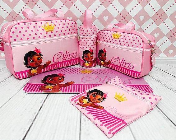 af30644f6e075 Kit Bolsa Maternidade 5 Peças Moana KF022 - Mary Baby