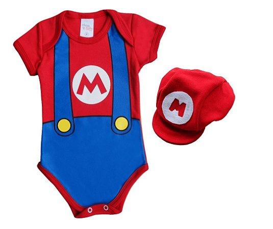 Body Mario + Boina Tam. P - Mary Baby d21b14264aa